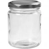 Aufbewahrungsglas, Transparent, H: 9,1 cm, D: 6,8 cm, 240 ml, 12 Stck./ 1 Box