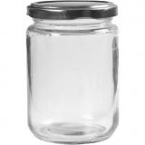 Aufbewahrungsglas, Transparent, H: 11 cm, D: 7,5 cm, 370 ml, 6 Stck./ 1 Box