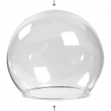 Glaskugel ohne Boden, Transparent, D: 8 cm, Lochgröße 5 cm, 4 Stck./ 1 Pck.