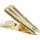Deko-Klammer, Gold, L: 27 mm, B: 14 mm, 10 Stck./ 1 Pck.