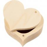 Holzdose, H: 4 cm, B: 9 cm, 1 Stck.