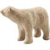Eisbär, H: 8,5 cm, L: 11,5 cm, 1 Stck.