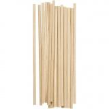 Holzstäbe rund, L: 15 cm, D: 4 mm, 20 Stk/ 1 Pck