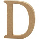 Buchstabe, D, H: 13 cm, dicke 2 cm, 1 Stck.