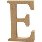 Buchstabe, E, H: 13 cm, dicke 2 cm, 1 Stck.