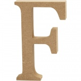 Buchstabe, F, H: 13 cm, dicke 2 cm, 1 Stck.