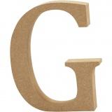 Buchstabe, G, H: 13 cm, dicke 2 cm, 1 Stck.