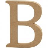 Buchstabe, B, H: 8 cm, dicke 1,5 cm, 1 Stck.