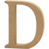 Buchstabe, D, H: 8 cm, dicke 1,5 cm, 1 Stck.