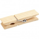 Holzklammer, L: 7,2 cm, B: 2 cm, 4 Stck./ 1 Pck.