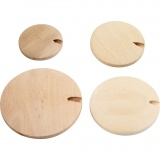 Holzknopf Perle, D: 20-35 mm, 320 Stk/ 1 Pck