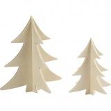 3D Weihnachtsbaum, H: 13+18 cm, 2 Stck./ 1 Pck.