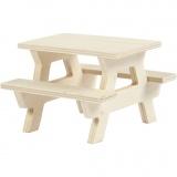 Picknick-Tisch mit Bank, H: 5,5 cm, L: 8 cm, 1 Stck.