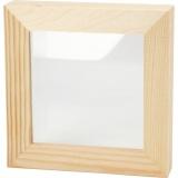 3D-Rahmen mit Glas, Größe 12,3x12,3 cm, 1 Stck.