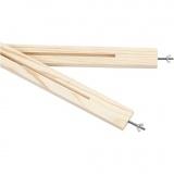Leisten-Set für multifunktionalen Holzrahmen, L: 120 cm, 2 Stck./ 1 Pck.