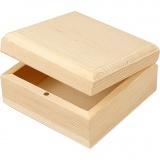 Holzkasten, Größe 9x9x5 cm, 8 Stck./ 1 Pck.