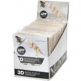 3D-Holzbausätze mit APP, H: 11,5-22 cm, 48 Stck./ 1 Pck.