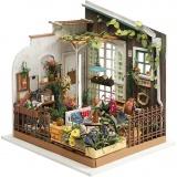 DIY-Miniatur-Zimmer, Gartenzimmer, H: 21 cm, B: 19,5 cm, 1 Stck.