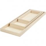 Tablett-Set, L: 20+30+40 cm, B: 10+12+15 cm, 3 Stck./ 1 Pck.