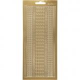 Sticker, Gold, Bordüren, 10x23 cm, 1 Bl.