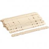 Holzbaustäbe mit Kerben, L: 11,4 cm, B: 10 mm, 30 Stk/ 1 Pck