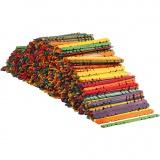 Holzflachstäbe mit Lochung, Sortierte Farben, L: 11,4 cm, B: 10 mm, 1000 Stck./ 1 Pck.