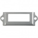Metall-Etikettenrahmen, Silber, Größe 22x60 mm, 40 Stck./ 1 Pck.