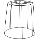 Lampenschirm-Gestell, Schwarz, H: 20 cm, D: 15,5-20 cm, 1 Stk