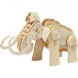 3D-Figuren zum Zusammensetzen, mammut, Größe 19x8,5x11 cm, 1 Stck.