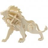 3D-Figuren zum Zusammensetzen, löwe, Größe 18,5x7x7,3 , 1 Stck.
