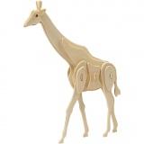 3D-Figuren zum Zusammensetzen, giraffe, Größe 20x4,2x25 cm, 1 Stck.