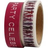 Klebeband, Pink, B: 15 mm, 2x5 m/ 1 Pck