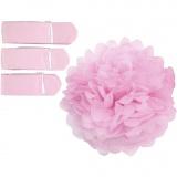 Seidenpapier-Pompons, Rosa, D: 20+24+30 cm, 16 g, 3 Stck./ 1 Pck.