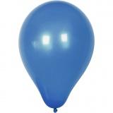 Ballons, Dunkelblau, rund, D: 23 cm, 10 Stck./ 1 Pck.