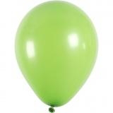 Ballons, Grün, rund, D: 23 cm, 10 Stck./ 1 Pck.