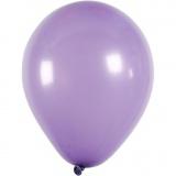 Ballons, Flieder, rund, D: 23 cm, 10 Stck./ 1 Pck.