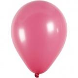 Ballons, Dunkelpink, rund, D: 23 cm, 10 Stck./ 1 Pck.