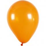 Ballons, Orange, rund, D: 23 cm, 10 Stck./ 1 Pck.