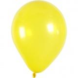 Ballons, Gelb, rund, D: 23 cm, 10 Stck./ 1 Pck.