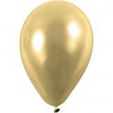Ballons, Gold, rund, D: 23 cm, 8 Stck./ 1 Pck.