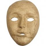 Maske, H: 17,5 cm, B: 12,5 cm, 1 Stck.