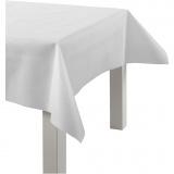 Tischdecke aus Stoff-Imitat, Weiß, B: 125 cm, 70 g, 10 m/ 1 Rolle