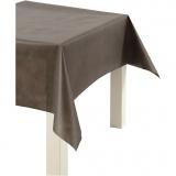 Tischdecke aus Stoff-Imitat, Braun, B: 125 cm, 70 g, 10 m/ 1 Rolle