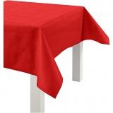 Tischdecke aus Stoff-Imitat, Rot, B: 125 cm, 70 g, 10 m/ 1 Rolle