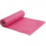Tischläufer aus Stoff-Imitat, Pink, B: 35 cm, 70 g, 10 m/ 1 Rolle