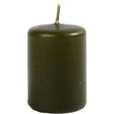 Kerzen, Dunkelgrün, H: 60 mm, D: 40 mm, 12 Stck./ 1 Pck.