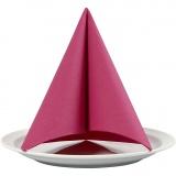 Servietten, Pink, Größe 40x40 cm, 60 g, 20 Stck./ 1 Pck.