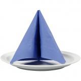 Servietten, Hellblau, weißer Rückseite, Größe 33x33 cm, 20 Stck./ 1 Pck.