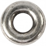Gliedperle, Antiksilber, D: 9 mm, Lochgröße 4 mm, 15 Stck./ 1 Pck.
