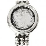 Cabochon-Ring, Antiksilber, D: 19 mm, Lochgröße 14 mm, 1 Stck.